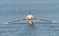 Brest, Belarus. GBR W1X Rosamund BRADBURY, competing in Sat's Semi Final at the 2010. FISA U23 Championships. Saturday,  24/07/2010.  [Mandatory Credit Peter Spurrier/ Intersport Images]