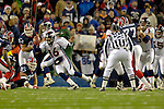 17 December 2005: Denver Broncos quarterback Jake Plummer (16) scrambles in the pocket against the Buffalo Bills at Ralph Wilson Stadium in Orchard Park, NY. The Broncos defeated the Bills 28-17. .Mandatory Photo Credit: Ed Wolfstein