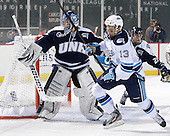 Casey DeSmith (UNH - 29), Spencer Abbott (Maine - 13) - The University of Maine Black Bears defeated the University of New Hampshire Wildcats 5-4 in overtime on Saturday, January 7, 2012, at Fenway Park in Boston, Massachusetts.