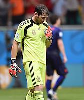 FUSSBALL WM 2014  VORRUNDE    Gruppe B     Spanien - Niederlande                13.06.2014 Torwart Iker Casillas (Spanien) ist nach dem 1:5 enttaeuscht