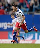 FUSSBALL   1. BUNDESLIGA   SAISON 2013/2014   4. SPIELTAG Hamburger SV - Eintracht Braunschweig                  31.08.2013 Hakan Calhanoglu (Hamburger SV) bejubelt sein Tor zum 3:0