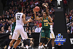 MILWAUKEE, WI - MARCH 16: Vermont Catamounts forward Darren Payen (12) pulls down a loose ball during the first half of the 2017 NCAA Men's Basketball Tournament held at BMO Harris Bradley Center on March 16, 2017 in Milwaukee, Wisconsin. (Photo by Jamie Schwaberow/NCAA Photos via Getty Images)