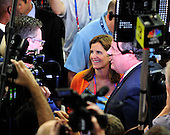 Governor Chris Christie (Republican of New Jersey) is interviewed on the floor of the 2012 Republican National Convention prior to the start of proceedings in Tampa Bay, Florida on Monday, August 27, 2012..Credit: Ron Sachs / CNP.(RESTRICTION: NO New York or New Jersey Newspapers or newspapers within a 75 mile radius of New York City)