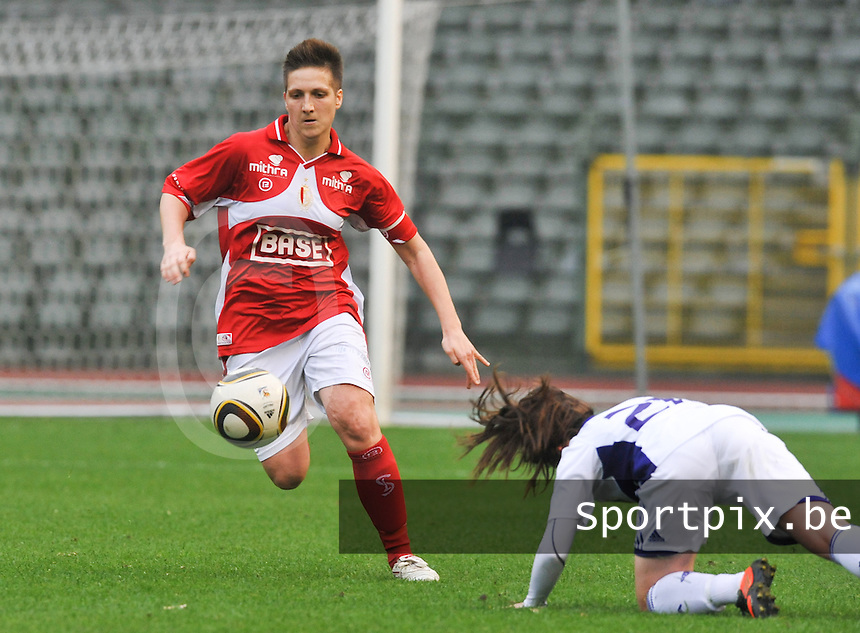 RSC Anderlecht Dames - Standard Femina de Liege : Maud Coutereels.foto DAVID CATRY / Vrouwenteam.be