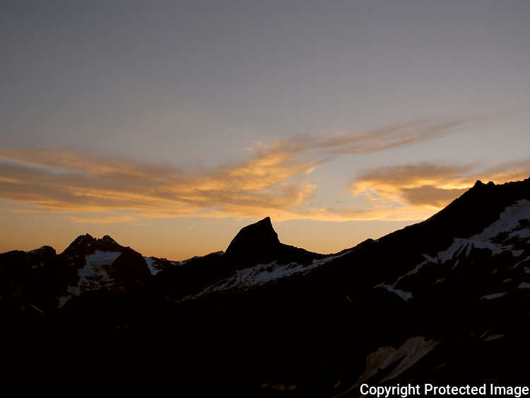 Sunset and the Chooping Block, Southern Picket Range, Washington's North Cascades.