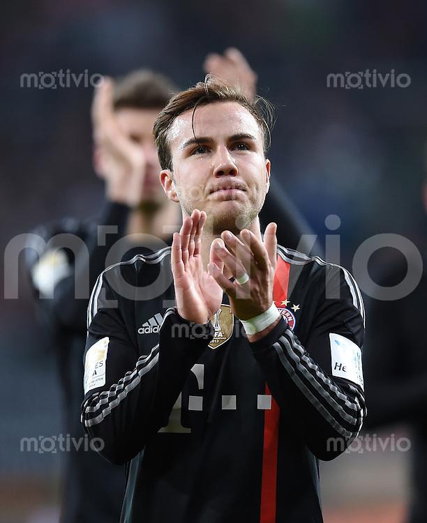Fussball  1. Bundesliga  Saison 2014/2015  15. Spieltag  FC Augsburg - FC Bayern Muenchen     13.12.2014 Mario Goetze (FC Bayern Muenchen)