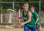 30 April 2015: Vermont Commons School visits Burlington High School to compete in Ultimate Disk at the Rock Point School in Burlington, Vermont. Mandatory Credit: Ed Wolfstein Photo *** RAW (NEF) Image File Available ***