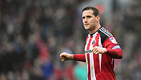 Sheffield United's Billy Sharp celebrates the win at the end of the game<br /> <br /> Photographer Chris Vaughan/CameraSport<br /> <br /> The EFL Sky Bet League One - Sheffield United v Charlton Athletic - Saturday 18th March 2017 - Bramall Lane - Sheffield<br /> <br /> World Copyright &copy; 2017 CameraSport. All rights reserved. 43 Linden Ave. Countesthorpe. Leicester. England. LE8 5PG - Tel: +44 (0) 116 277 4147 - admin@camerasport.com - www.camerasport.com