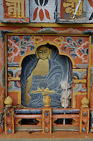 A Buddhist painting on a chorten(religious mound like structure) at Dochula . Arindam Mukherjee..