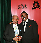 Hon. Charles B. Rangel and Singer Chuck Jackson attend the HISTORIC CELEBRATIONS GALA AND DANCE, a benefit saluting the anniversaries of HARLEM WEEK, New York City Marathon and WBLS-FM at the Great Hall of The City College of New York at 138th Street on Convent Avenue, New York