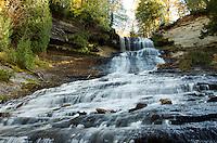 Laughing Whitefish Falls seen from below. Michigan's Upper Peninsula