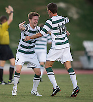 The number 5 ranked Charlotte 49ers play the University of South Carolina Gamecocks at Transamerica field in Charlotte.  Charlotte won 3-2 in the second overtime.  Owen Darby (7), Nick Barnhorst (14)