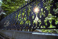 elegant wrought iron fence early american