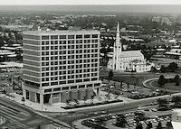 1972 June 01..Redevelopment..Downtown South (R-9)..Norfolk Schools Administration Building.St Mary's Catholic Church..Millard Arnold.NEG# MDA72-64-16.NRHA#..