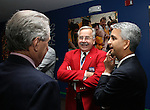 27 August 2006: Hank Steinbrecher (c), a 2005 Hall of Fame inductee, talks with Philip Anschutz (l), a 2006 Hall of Fame inductee, and Sunil Gulati (r), president of the U.S. Soccer Federation during the opening of a new exhibit commemorating the first ten years of Major League Soccer. The President's Reception and Dinner were held at the National Soccer Hall of Fame in Oneonta, New York the evening before the 2006 Induction Ceremony.