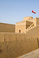 Oman, Buraimi, Al Khandaq Fort, walls and ramparts