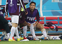 England's Frank Lampard on the Bench