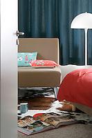 View through the open door into the bedroom