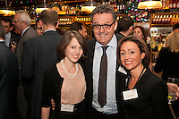Patrick Oddie of Oddie Dalton & Co gets stuck in the middle of Cavendish Lettings' Jacklyn Bartlett (left) and Tamsin Wheatcroft