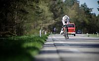 Ryder Hesjedal (CAN/Trek-Segafredo) at the pre-Giro TT-training ride with Team Trek-Segafredo in Gelderland (The Netherlands)<br /> <br /> 99th Giro d'Italia 2016