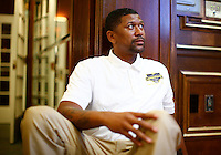 Jalen Rose attends the 5th annual Jalen Rose Leadership Academy golf tournament at the Detroit Golf Club in Detroit, Michigan on Monday August 31, 2015. (Photo by Jared Wickerham/The Players Tribune)