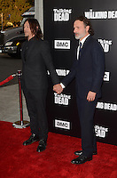 HOLLYWOOD, CA - OCTOBER 23: Norman Reedus and Andrew Lincoln at AMC Presents Live, 90-Minute Special Edition of 'Talking Dead' at Hollywood Forever on October 23, 2016 in Hollywood, California. Credit: David Edwards/MediaPunch