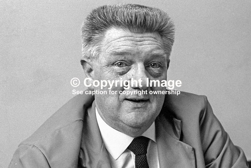 James Graham, aka Jimmy Graham, N Ireland secretary, Amalgamated Union of Engineering Workers. 197012000449a..Copyright Image from Victor Patterson, 54 Dorchester Park, Belfast, United Kingdom, UK...For my Terms and Conditions of Use go to http://www.victorpatterson.com/Victor_Patterson/Terms_%26_Conditions.html
