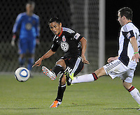 DC United midfielder Andy Najar (14) goes against New England Revolution midfielder Stephen McCarthy (26)  The New England Revolution defeated DC United 3-2 in US Open Cup match , at the Maryland SoccerPlex, Tuesday  April 26, 2011.