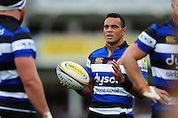 Kahn Fotuali'i of Bath Rugby looks on. Aviva Premiership match, between Bath Rugby and Worcester Warriors on September 17, 2016 at the Recreation Ground in Bath, England. Photo by: Patrick Khachfe / Onside Images