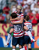 Abby Wambach, Megan Rapinoe.  The USWNT defeated Costa Rica, 8-0, during a friendly match at Sahlen's Stadium in Rochester, NY.