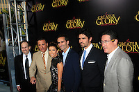 "LOS ANGELES - MAY 31:  Dean Wright, Mauricio Kuri, Andy Garcia, Eva Longoria, Nestor Carbonell, Eduardo Verastequi, Pablo Jose Barroso arriving at the ""For Greater Glory"" Premiere at AMPAS Theater on May 31, 2012 in Beverly Hills, CA"