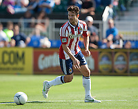 Santa Clara, California - Sunday May 13th, 2012: Heath Peace of Chivas USA in actionduring a Major League Soccer match against San Jose Earthquakes at Buck Shaw Stadium