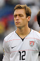 Jimmy Conrad (12) of the United States (USA). The United States and Haiti played to a 2-2 tie during a CONCACAF Gold Cup Group B group stage match at Gillette Stadium in Foxborough, MA, on July 11, 2009. .