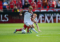17 September 2011: Colorado Rapids midfielder Wells Thompson #15 and Toronto FC defender Richard Eckersley #27 in action during an MLS game between the Colorado Rapids and the Toronto FC at BMO Field in Toronto, Ontario Canada..Toronto FC won 2-1.
