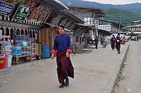A school girl coming back from school in her national dress at Jakar in Bumthang, Bhutan. Arindam Mukherjee.