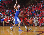 Ole MIss forward Reginald Buckner (2)  dribbles against Kentucky's Josh Harrellson (55) at the C.M. &quot;Tad&quot; Smith Coliseum in Oxford, Miss. on Tuesday, February 1, 2011. Ole Miss won 71-69.