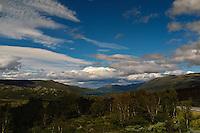 Mountainlandscape from Jotunheimen at the edge of Jotunheimen National Park.