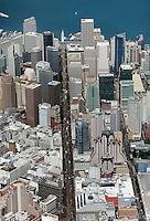aerial photograph Market Street to Ferry Building San Francisco, California