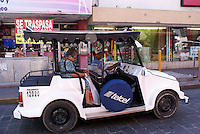 Open air taxi or Pulmonia in downtown Mazatlan, Sinaloa, Mexico