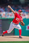 23 August 2015: Washington Nationals pitcher Jordan Zimmermann on the mound against the Milwaukee Brewers at Nationals Park in Washington, DC. The Nationals defeated the Brewers 9-5 in the third game of their 3-game weekend series. Mandatory Credit: Ed Wolfstein Photo *** RAW (NEF) Image File Available ***