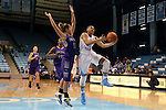 21 December 2013: North Carolina's Allisha Gray (15) and High Point's Lindsay Pickett (10). The University of North Carolina Tar Heels played the High Point University Panthers in an NCAA Division I women's basketball game at Carmichael Arena in Chapel Hill, North Carolina. UNC won the game 103-71.