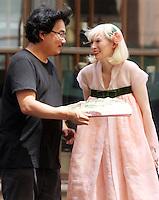 NEW YORK, NY-July 16: Bong Joon-Ho, Tida Swinton shooting on location for Netflix & Plan B Enterainment  film Okja in New York. NY July 16, 2016. Credit:RW/MediaPunch