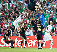 PASADENA, CA – June 25, 2011: Mexican goalie Alfredo Talavera (12) during the Gold Cup Final match between USA and Mexico at the Rose Bowl in Pasadena, California. Final score USA 2 and Mexico 4.