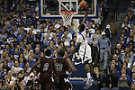 Junior forward Patrick Patterson dunks against Campbellsville at Rupp Arena on Monday night, Nov. 2, 2009. Photo by Britney McIntosh | Staff