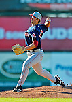 30 June 2012: Lowell Spinners pitcher Jacob Dahlstrand on the mound against the Vermont Lake Monsters at Centennial Field in Burlington, Vermont. Mandatory Credit: Ed Wolfstein Photo
