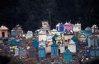 Colourful hillside Mayan cemetery in Chichicastenango, Guatemala