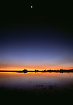 Sunset over marshes, Okavango Delta, Botswana