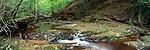Small cascade in woodland near Goathland, North Yorkshire