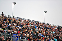 A general view of the crowd in the Dyson Stand. West Country Challenge Cup match, between Bath Rugby and Exeter Chiefs on October 10, 2015 at the Recreation Ground in Bath, England. Photo by: Patrick Khachfe / Onside Images