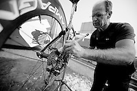 Milan-San Remo preparations..the day before.getting it spick&span
